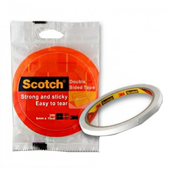 3M Scotch200 Double Sided Tissue Tape 6mmx10Yds