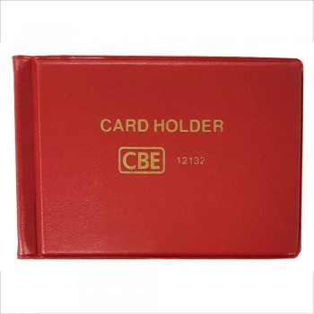 CBE 12132 PVC Name Card Holder - Red