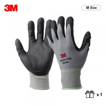 3M Comfort Grip Glove General Use - Gray (M Size)