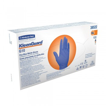 KLEENGUARD* G10 Flex Blue Nitrile Glove - XL,  1 boxes x 100pcs