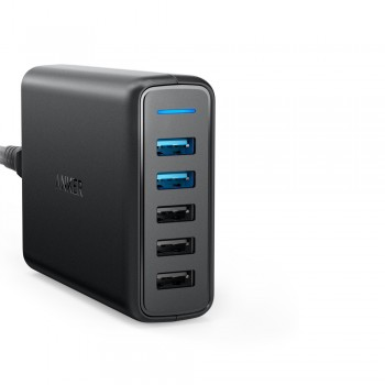 Anker A2054 63W 5-Port PowerPort Speed 5 Dual Quick Charge 3.0 USB Wall Charger (848061040128)