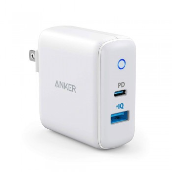 Anker Power Delivery II Port Quick Charge Wall Charger - 33W, 2 x USB-C Ports, White
