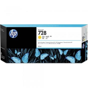 HP 728 300-ml Yellow DesignJet Ink Cartridge (F9K15A)