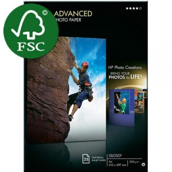 HP Advanced Glossy Photo Paper - A4 - 25 Sheets - 250gsm (Q5456A) - Paper