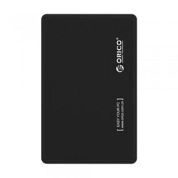 "Orico 2588US 2.5"" USB 2.0 Portable HDD Enclosure - Black"