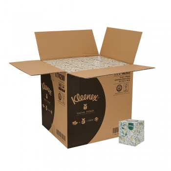 Kleenex® Facial Tissues Cube 17742 - White, 3 ply, 1 x 50 sheets (50 sheets) [48 boxes /carton]