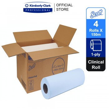 Scott® Clinical Roll 20251 - white, 1 ply, 4 rolls x 150m, 52W (4rolls, 600m)