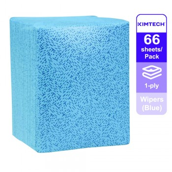 Kimtech Prep™ Kimtex* Wipers 1/4 fold, 33560 - Blue, 1 ply, 1 Pack x 66 Sheets (66 Sheets)