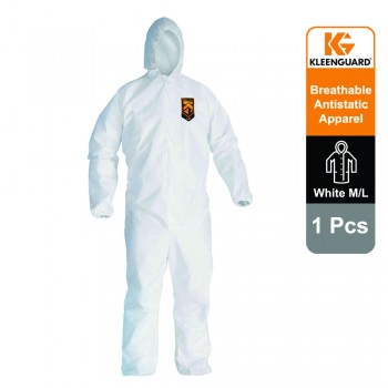 KleenGuard™ A20+ Breathable Particle Protection Hooded Coveralls 95160 - White, M, 1x1 (1 total)