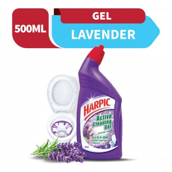 Harpic Liquid Toilet Cleaner Lavender Bottle 500ml