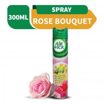 Air Wick Freshener Aerosol 4 in 1 Rose Bouquet 300ml