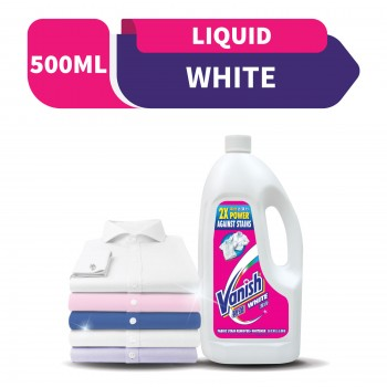 Vanish Fabric Stain Remover Liquid White 500ML