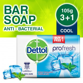 Dettol Body Soap Cool 105g 3+1 (free)