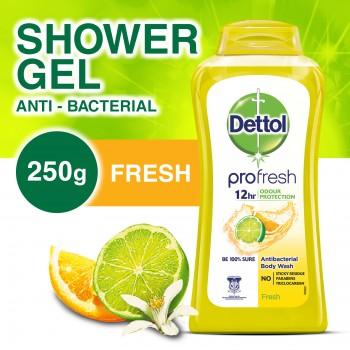 Dettol Anti-Bacterial Shower Gel Fresh 250ml