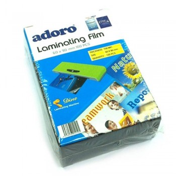 Adoro Laminating Film Pouch ID Size — 60mm x 90mm, 100pcs, 150mic