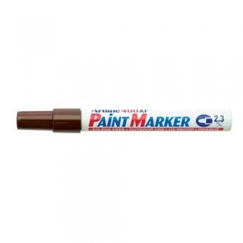 Artline 400XF Paint Marker Pen - 2.3mm Bullet Nib - Chocalate