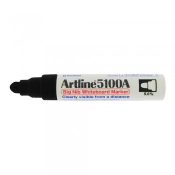 Artline 5100A whiteboard Big nib marker 5mm - Black