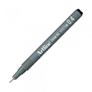 Artline Black Drawing System Pen 0.4mm (EK-234)