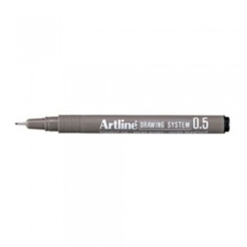Artline Black Drawing System Pen 0.5mm (EK-235)