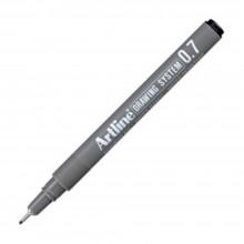 Artline Black Drawing System Pen 0.7mm (EK-237)