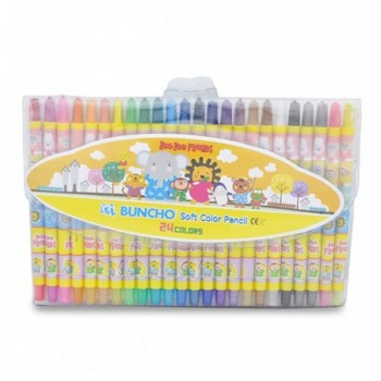 Buncho Soft Color Pencils - 24 colors