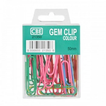 CBE 21350 50MM Colour Gem Clip (30'S)
