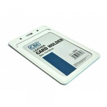 CBE Leather Card Holder 3318 - White (Single Sided) (Item no: B10-42 W) A1R3B64
