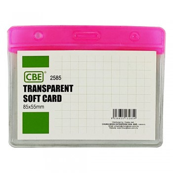 CBE 2585 Transparent Soft Card - Pink