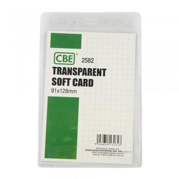 CBE 2582 Transparent Soft Card - 91 x 128mm