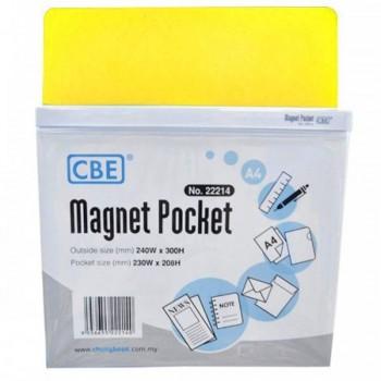 CBE Magnet Pocket 22214 A4 - Yellow (Item No: B10-185Y) A1R3B130