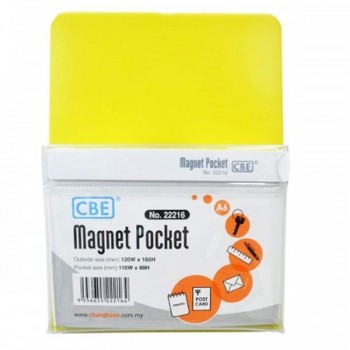 CBE Magnet Pocket 22216 A6 - Yellow (Item No: B10-187Y) A1R3B129