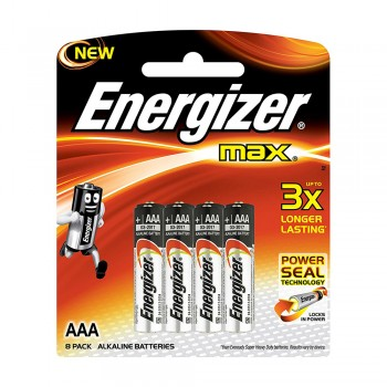 Energizer MAX AAA Alkaline Batteries - 8pcs pack