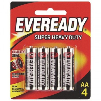 EVEREADY Super Heavy Duty AA Carbon Zinc Batteries - AA Size - 4pcs (Item No: B06-18) A1R2B231