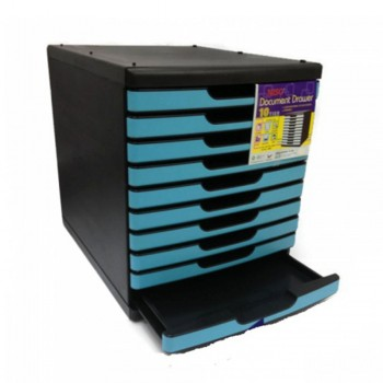 Niso 8855 Document Drawer 10 Tiers Blue