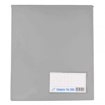 PVC COMPUTER FILE A4 - Gray (Item No :C01 21 GY)