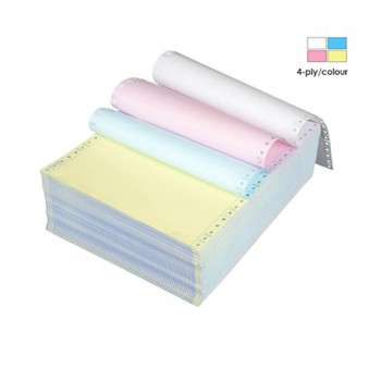 "Computer Form 4 ply 9.5"" x 11"" Colour (White/Pink/Yellow/Blue) (500 Fans)"