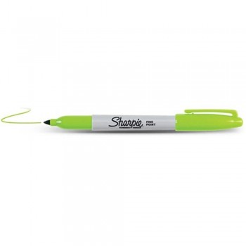Sharpie Fine Point Permanent Marker - Lime (Item No: A12-06 F/LIME) A1R3B44