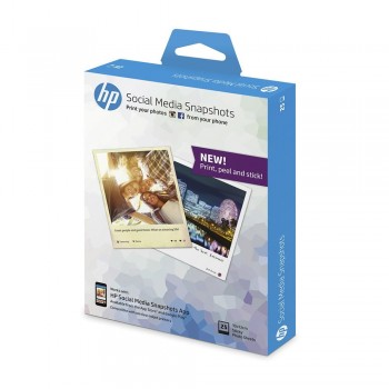 HP Social Media Snapshots Removable Sticky Photo Paper-25 sht/4 x 5 in (K6B83A)