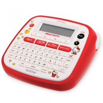 Brother PT-D200KT Label Printer Brother Hello Kitty Label Maker Brother P-Touch PT-D200KT - 2 line Printer, 6-12mm Tape
